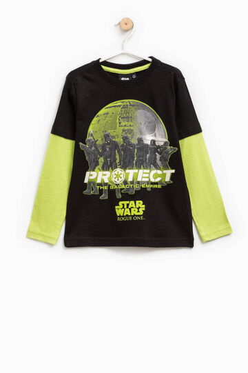Star Wars printed cotton T-shirt, Black/Green, hi-res