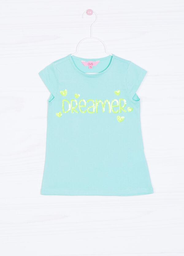 T-shirt puro cotone con stampa   OVS