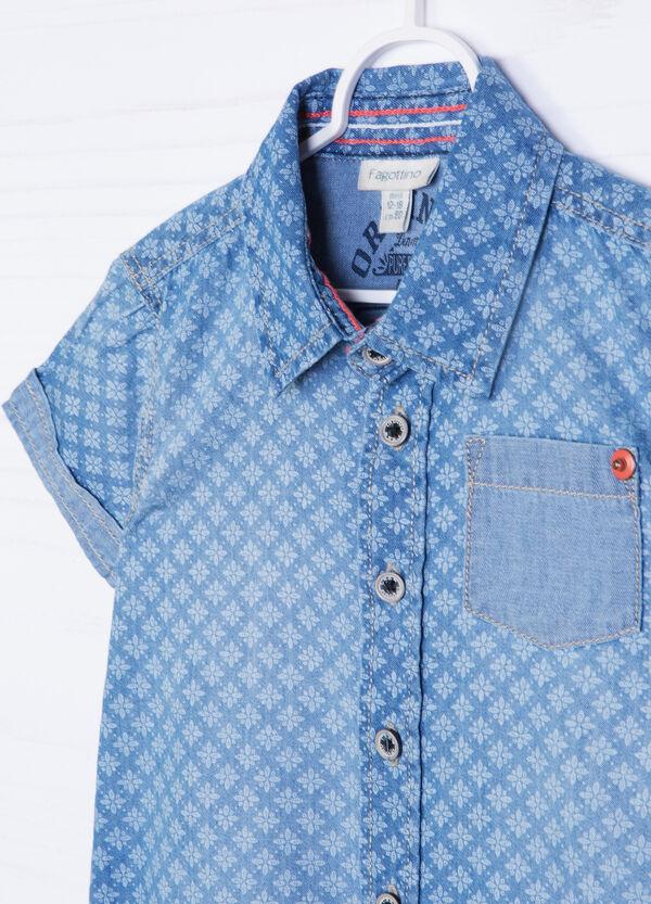 Patterned denim shirt | OVS