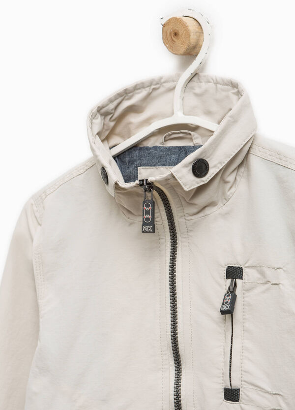Jacket in cotton with pockets and patch | OVS