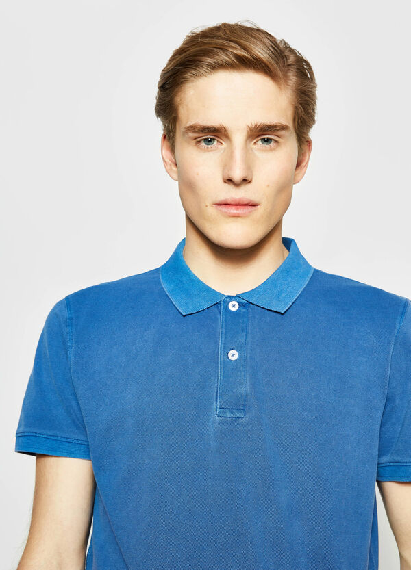 Solid colour 100% cotton polo shirt | OVS