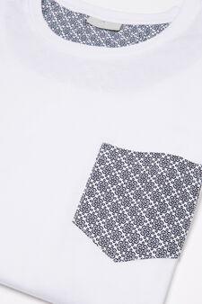 100% cotton pyjamas with pocket, White, hi-res