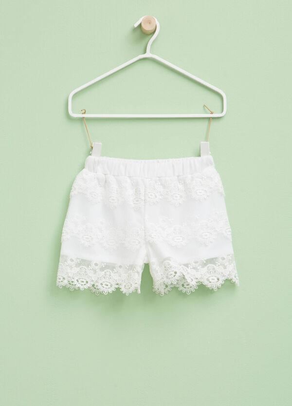 Shorts de encaje con cintura elástica | OVS