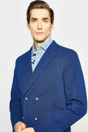 Rumford double-breasted jacket, Royal Blue, hi-res