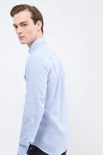 Camicia regular fit a quadretti, Azzurro, hi-res