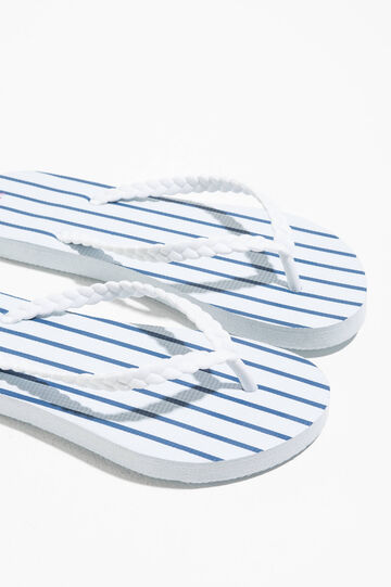 Rubber flip flops with stripes