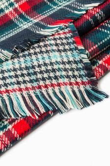 Tartan pattern scarf, Blue/Green, hi-res