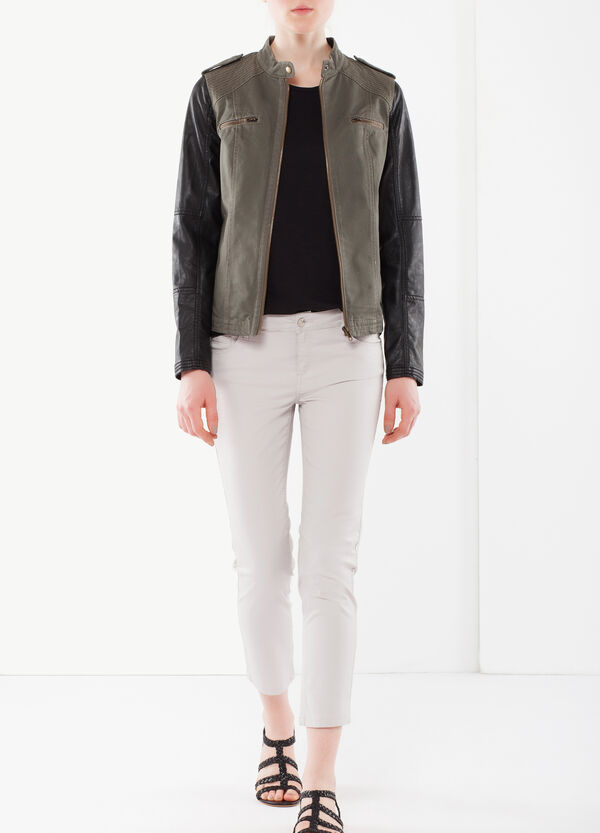 Two-tone jacket with zip | OVS