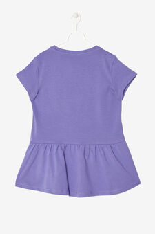 T-shirt  with  pocket  and  bow, Purple, hi-res