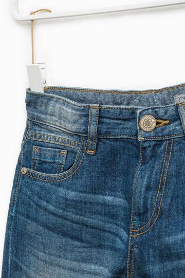 Bermuda di jeans effetto used