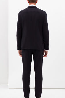 Slim-fit, elegant pinstripe suit, Dark Blue, hi-res