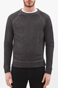 100% cotton sweatshirt with raglan sleeves, Smoke Grey, hi-res