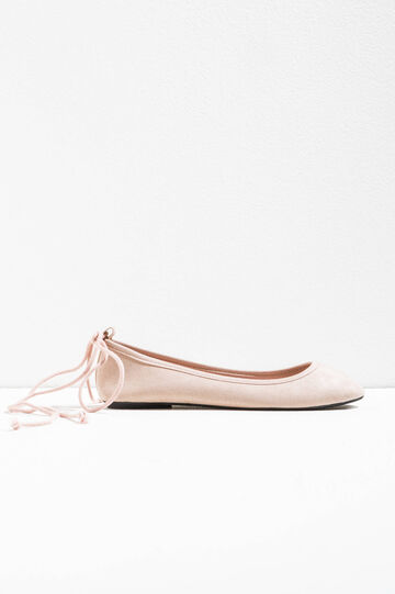 Ballerina flats with laces on the back
