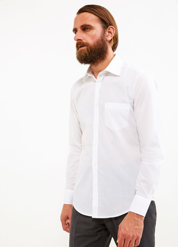 Solid colour slim-fit formal shirt | OVS