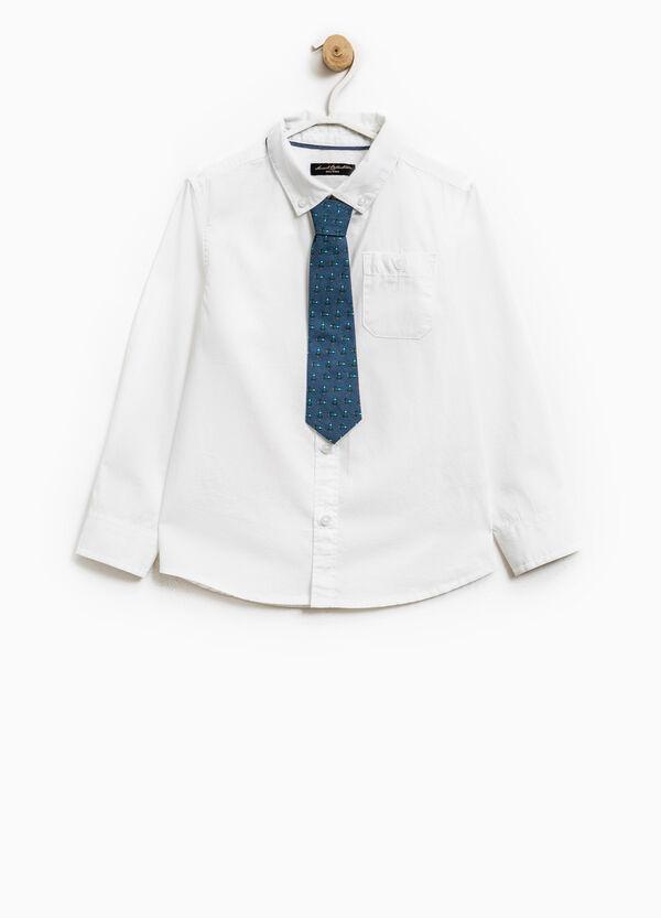 Camicia cotone button down con cravatta | OVS