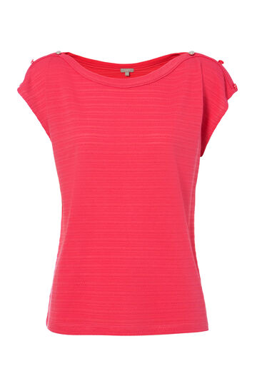 T-shirt misto viscosa Smart Basic, Rosa corallo, hi-res