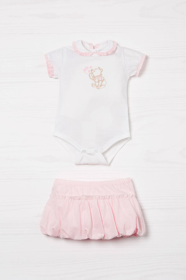Biocotton bodysuit and skirt set | OVS