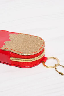 Two-tone purse, Red, hi-res