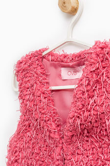 Waistcoat with matching fringe, Pink, hi-res