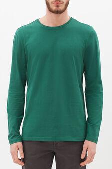 Plain long-sleeved T-shirt, Leaf Green, hi-res