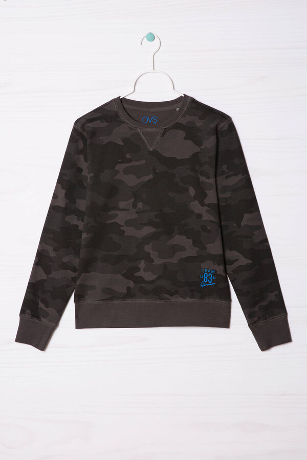 100% cotton sweatshirt with all-over print | OVS