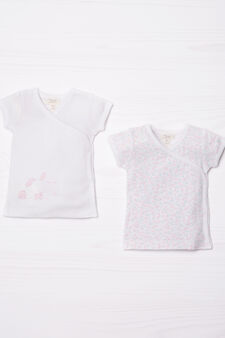 Set due t-shirt in puro cotone, Rosa, hi-res