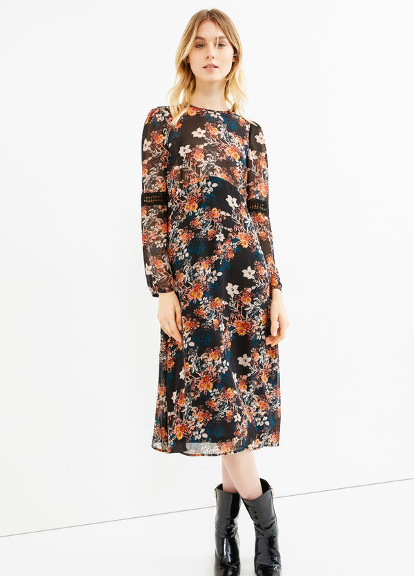 Lined dress with flower print | OVS