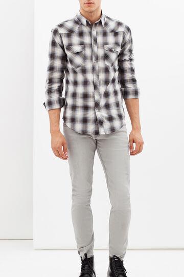 G&H tartan shirt with pockets, White/Grey, hi-res