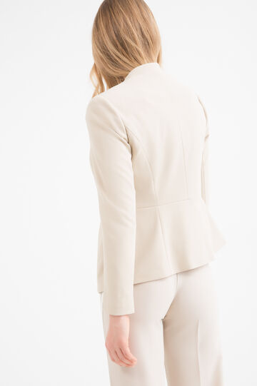Plain stretch jacket, Beige Brown, hi-res