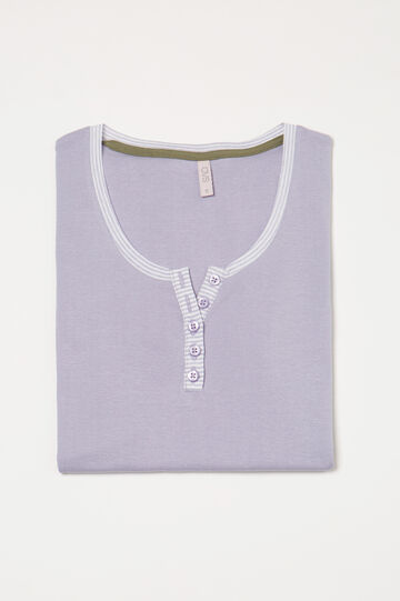 100% cotton pyjama top, Lilac, hi-res
