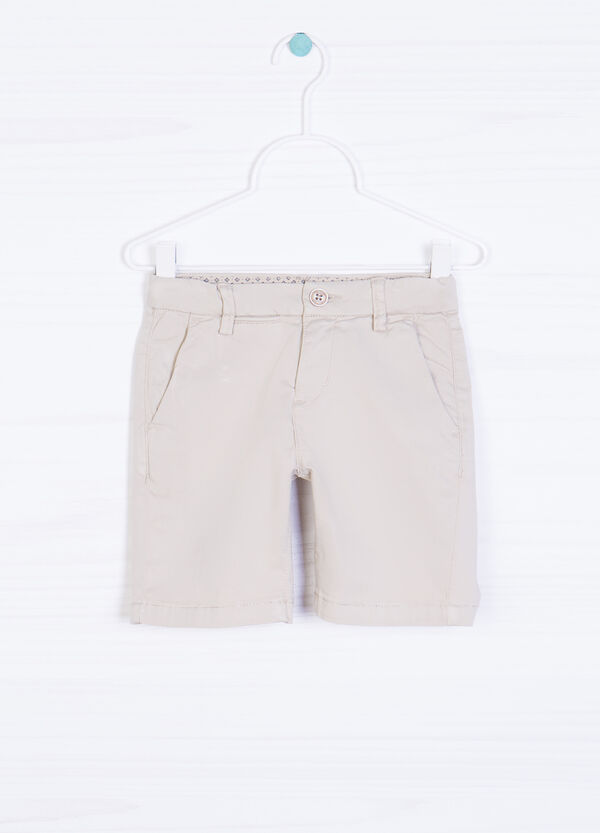 Solid colour 100% cotton shorts | OVS