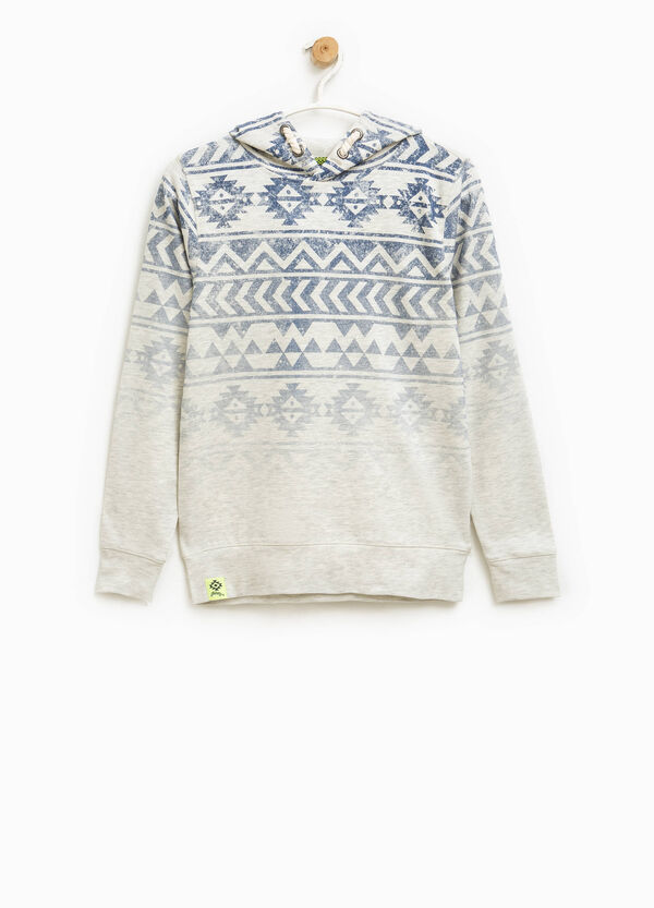 Ethnic patterned hoodie with degradé effect | OVS