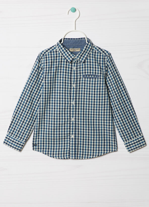 Check cotton shirt | OVS