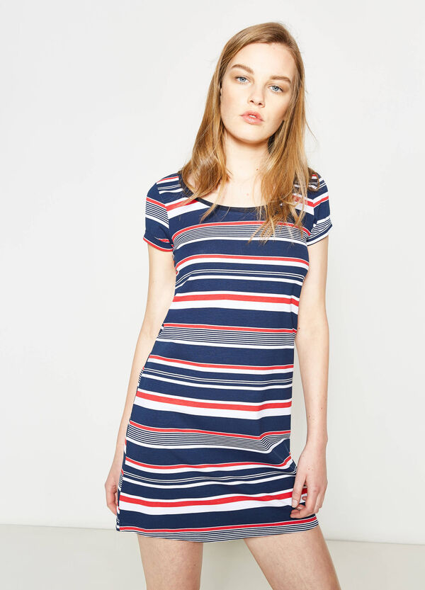 Short-sleeved dress with all-over print | OVS