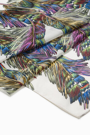 Feathers scarf, Multicolour, hi-res