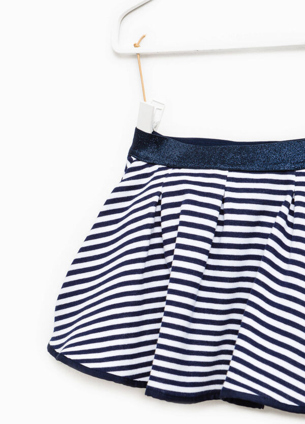 Striped patterned cotton skirt | OVS