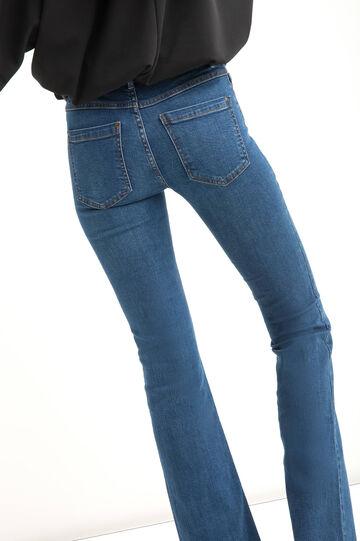 Flared-fit stretch jeans, Medium Wash, hi-res