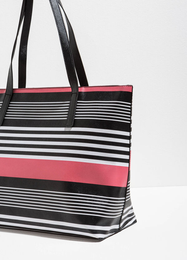 Shopping bag with striped pattern | OVS
