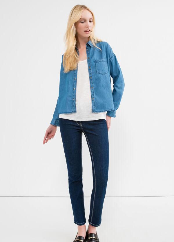 Denim shirt with pocket | OVS