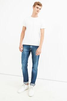 Worn-effect straight-fit jeans, Dark Wash, hi-res