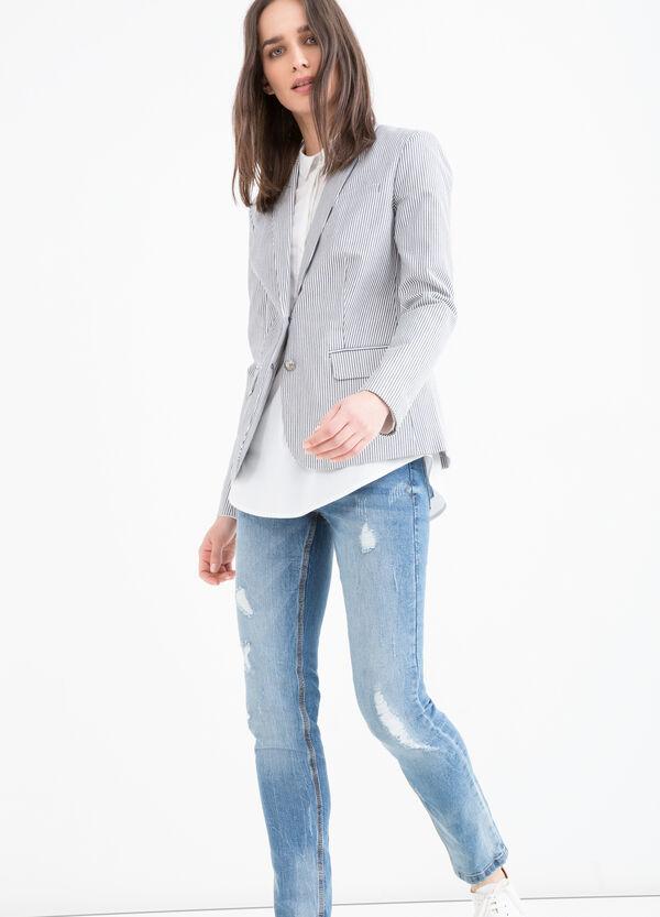 Giacca cotone stretch a righe | OVS