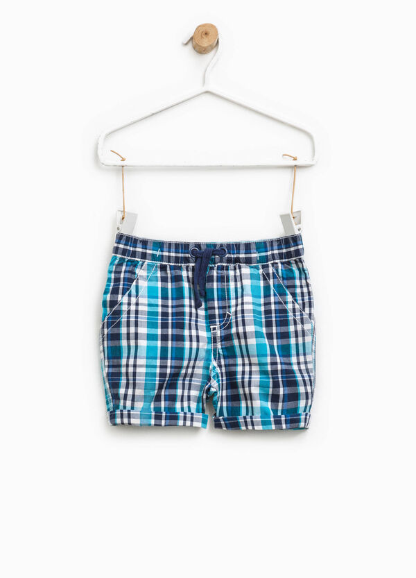 100% cotton check shorts | OVS
