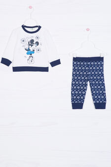 Minnie Mouse stretch outfit, White/Blue, hi-res