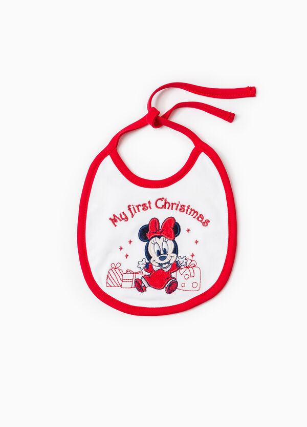 Bib with Baby Minnie Mouse patch | OVS
