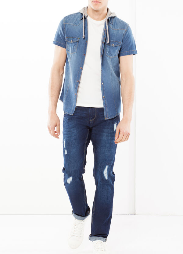 Camicia denim con cappuccio | OVS