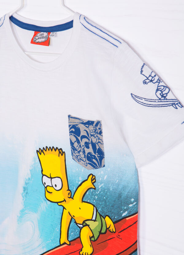 The Simpsons cotton T-shirt with pocket | OVS