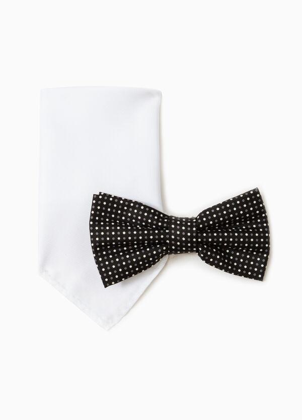 Clutch bag and polka dot bow tie set | OVS