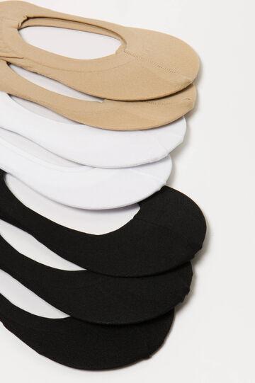 Seven-pair pack solid colour shoe liners, Multicolour, hi-res