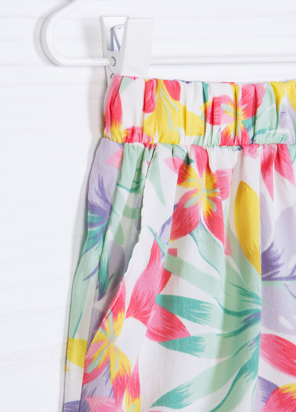 Multi-coloured floral pattern shorts | OVS