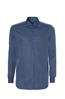 Slim-fit dobby shirt, Soft Blue, hi-res